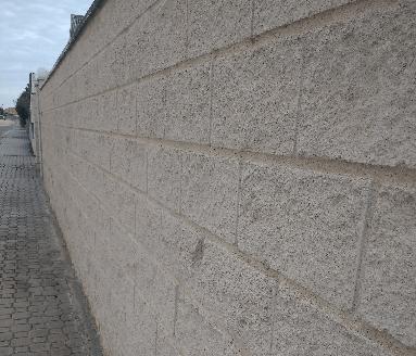 muro de bloques de hormigón